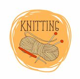 Theme of circular patterns of knitting.It can be used for stickers and labels Royalty Free Stock Photo