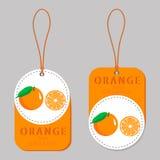 The theme of fruit orange, label market Stock Photos