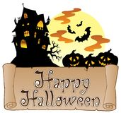 Theme with Happy Halloween banner 1 Stock Images