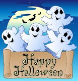 Theme with Happy Halloween banner 2 Royalty Free Stock Photo