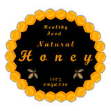 The theme honey. The vector shows beehive honey nectar hive swarm winged bee honeycomb wax,private apiary beekeeper beeswax Royalty Free Stock Photography