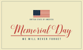 Theme memorial day background collection Royalty Free Stock Photography
