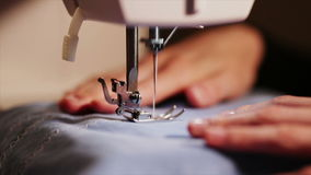 The theme of needlework , sewing, dressmaking, sewing machine stock video footage