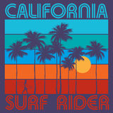 Theme Of Surfing With Text California, Surf Rider Stock Photography