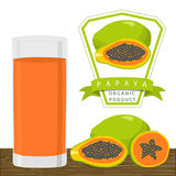 The theme papaya Royalty Free Stock Image
