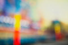 Theme park, defocused photo Stock Images