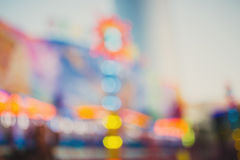 Theme park, defocused photo Royalty Free Stock Photo