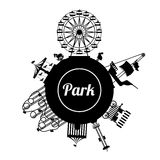 Theme park design. Over white background, vector illustration Royalty Free Stock Photography