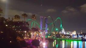 Universal at night  Orlando Florida. Theme park florida orlando america rollercoaster drop rides Stock Photography