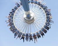 Theme park funfair ride. Fun on family day out at Drayton Manor theme park fairground, England Royalty Free Stock Image