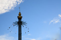 Theme park with high tower Royalty Free Stock Photography