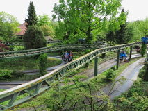 Theme Park landscape architecture for family fun stock photography