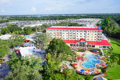 Theme park. Legoland theme park - city resort and hotel royalty free stock photos