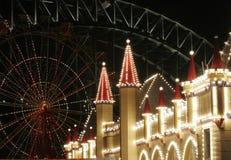 Theme Park At Night Royalty Free Stock Photos
