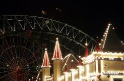 Theme Park At Night Stock Image