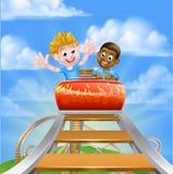 Theme Park Roller Coaster Stock Photos