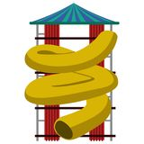 Theme park slide. On a white background, Vector illustration Royalty Free Stock Photo