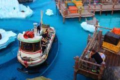 Theme park splash tour summer fun royalty free stock photos