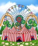 A Theme Park and Tent vector illustration
