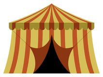 Theme park tent. On a white background, Vector illustration stock illustration