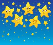Theme with stars. Vector illustration Stock Photography