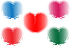 A theme of valentine's day using colorful hearts. Stock Photos