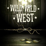 Theme WILD WEST, background Stock Photography
