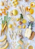 Theme : Yellow Produce royalty free stock image
