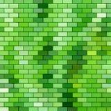 Themed bakgrund för gräs med tegelstenraster Royaltyfria Bilder