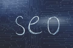 Themed concept of SEO royalty free illustration