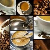 themed kaffecollage arkivbilder