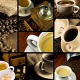 themed kaffecollage Fotografering för Bildbyråer