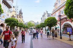 Themed område för Tyskland - Europa parkerar i rost, Tyskland Arkivfoto