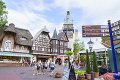 Themed område för Tyskland - Europa parkerar i rost, Tyskland Fotografering för Bildbyråer