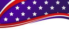 Themed patriotiskt baner för amerikanska flaggan vektor illustrationer