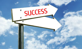 Themed Street Sign. A photo of a street sign with a 'success' theme Stock Image