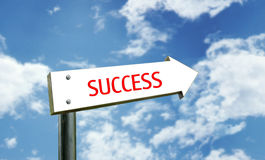 Themed Street Sign. A photo of a street sign with a 'success' theme Stock Photography