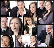 Themenorientierte Collage des Geschäfts Stockbild