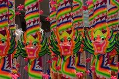Themenorientierte Räucherstäbchen des Drachen in Penang, Malaysia Lizenzfreie Stockfotos