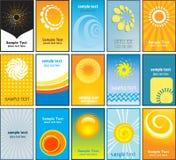Themenorientierte Visitenkarten des Sommers Stockfoto