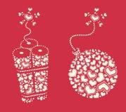 Themenorientiertes Gestaltungselement des Valentinstags Lizenzfreie Stockbilder