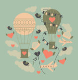 Themenorientiertes Gestaltungselement des Valentinstags Stockbild