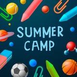 Themenorientiertes Sommer-Lager2016 Plakat, Sportspiele vektor abbildung