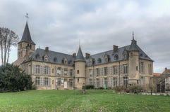 Themericourt Castle και εκκλησία - Γαλλία Στοκ Φωτογραφία