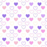 Themes or clothes for newborn. A pattern of hearts, for nursery themes or clothes for newborn Royalty Free Stock Photography