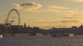 Themes and London Eye, Stock Photo