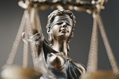 Themis雕象正义称法律律师企业概念 免版税库存图片