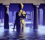 Themis - κυρία της δικαιοσύνης στο δικαστήριο Στοκ Εικόνα