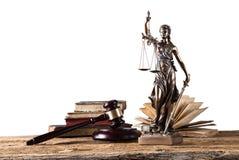 Themis στο επίκεντρο, έννοια νόμου Στοκ φωτογραφία με δικαίωμα ελεύθερης χρήσης