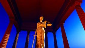 Themis στο δικαστήριο απόθεμα βίντεο